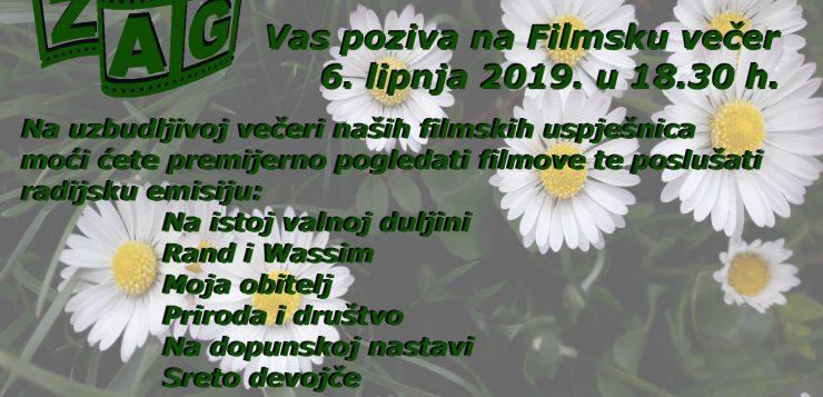 ZAGOVA FILMSKA I RADIJSKA VEČER – 6. lipnja u 18.30 h