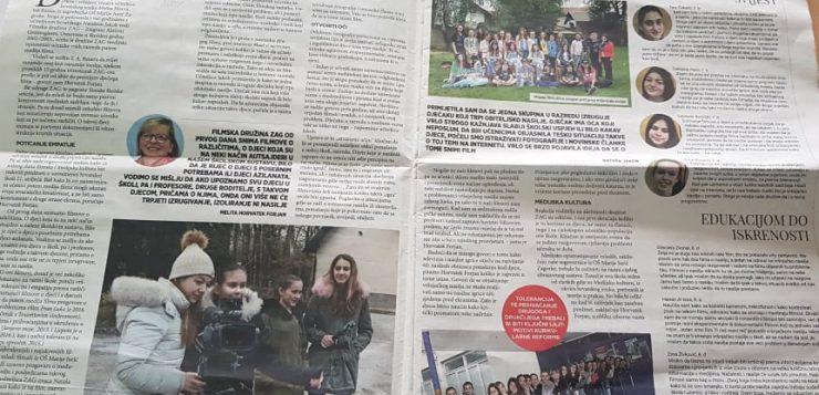 ZAG u Školskim novinama